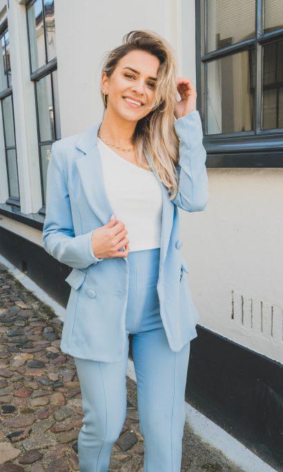 ELOISE BLAZER PANTALON SET BLUE