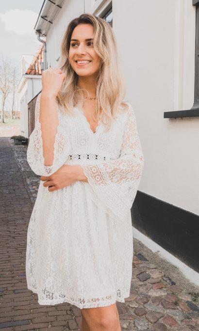 EMILIA LACE DRESS WHITE