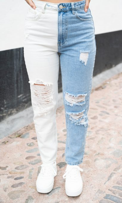 SHIRLEY TWO TONE JEANS