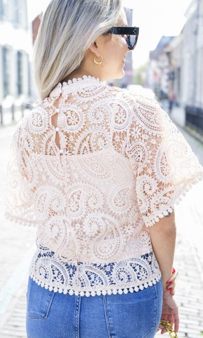 SOPHIE LACE TOP PINK