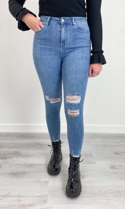ESILA RIPPED JEANS BLUE