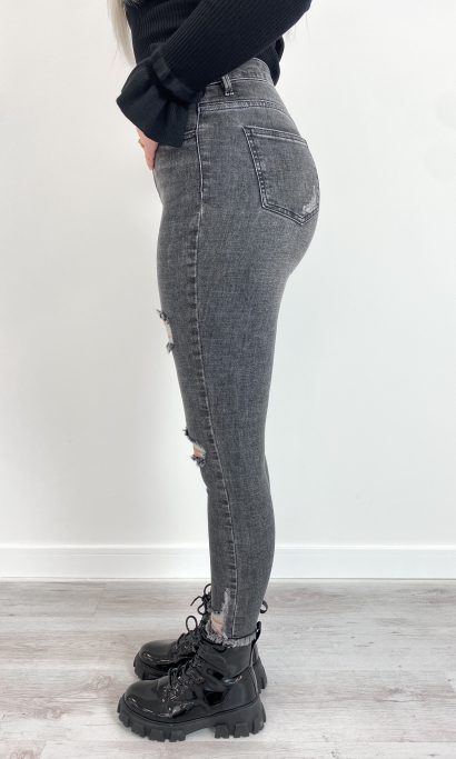 SHIRLEY RIPPED JEANS GREY
