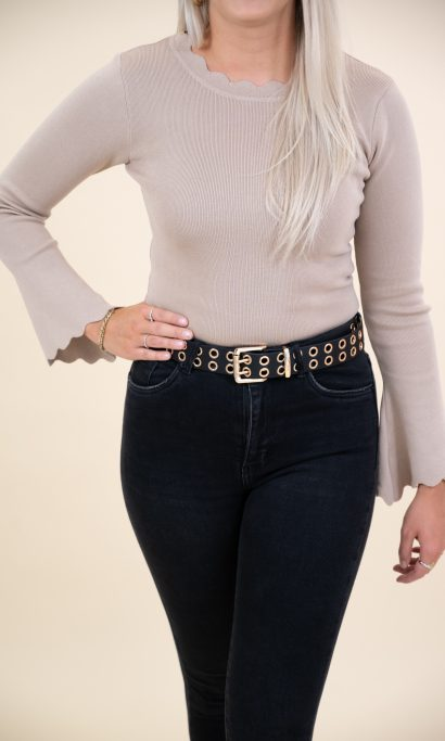ELIZE FLAIR TOP TAUPE